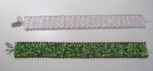 Armbänder in Peyote Technik gefädelt, Delica Perlen