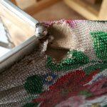 Reparatur: gestrickter Perlbeutel von Petra aus Österreich
