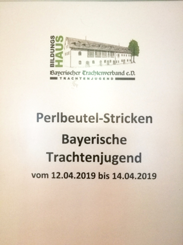 Holzhausen Perlbeutel-Strickkurs April 2019