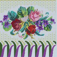 Carakess Perlbeutel Muster Blumenbouquet