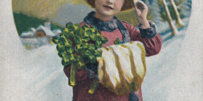 Postkarte viel Glück im neuen Jahr Carakess