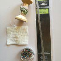 Schnupperset zum Thema Perlbeutel-stricken