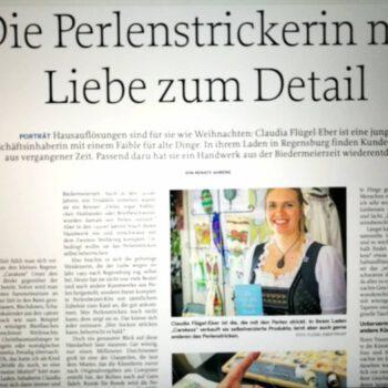 Artikel Mittelbayerische Regensburg Perlenstrickerin
